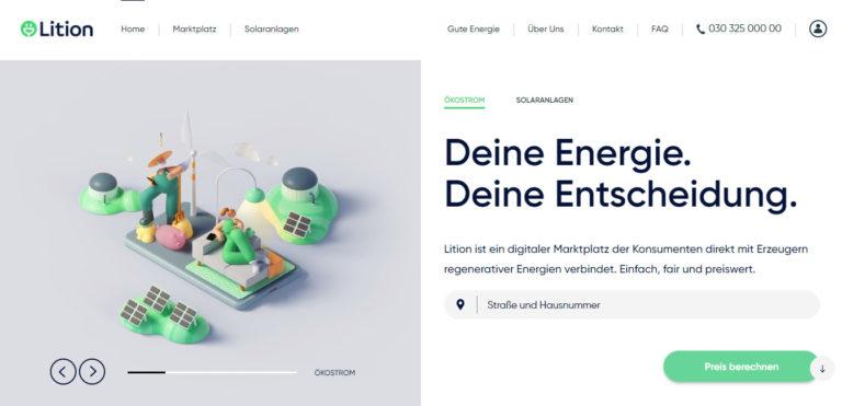 Lition Energie – der Energiemarktplatz