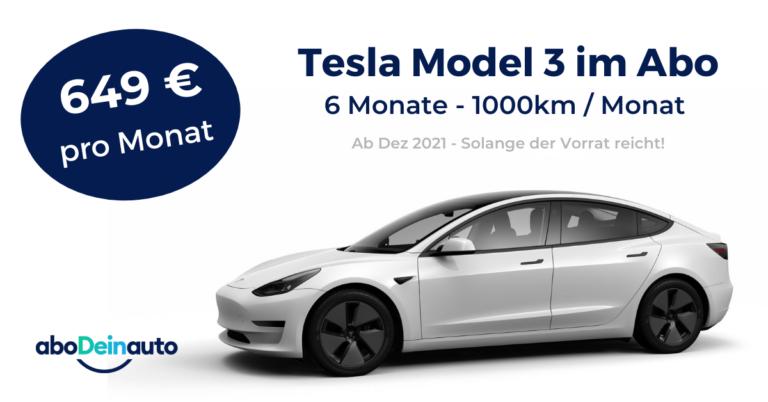 Berliner Startup aboDeinauto bringt Tesla Model 3 für nur 649 € all-inclusive auf die Straße